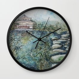 The Bamboo (Watercolor Painting) Wall Clock