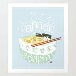 Ramen. Art Print