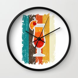 Longdrink Bartender Gifts For Cocktail Lovers Wall Clock