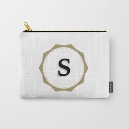 Vintage Letter S Monogram Carry-All Pouch