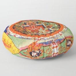 Mandala Buddhist 1 Floor Pillow