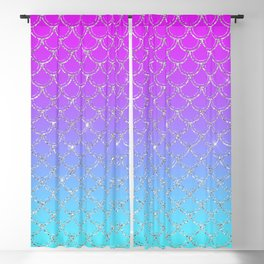 Gradient Mermaid Scales Blackout Curtain