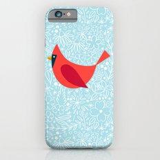 Cardinal Flowers, Carolina Blue Slim Case iPhone 6s