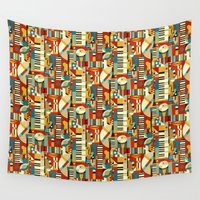 jazz Wall Tapestries featuring Jazz Fusion by Celia Forrester