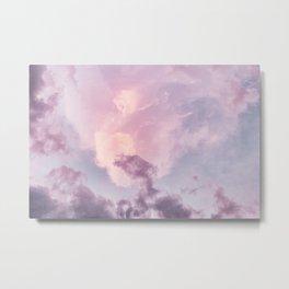 Pastel Purple Clouds Metal Print