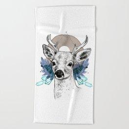 The Deer (Spirit Animal) Beach Towel