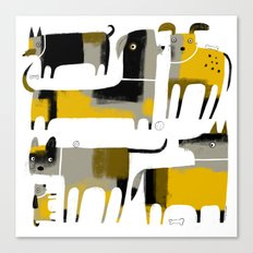 PATCHWORK DOGS Canvas Print