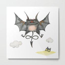 Flying little cute devil Metal Print