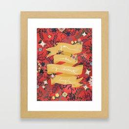 Flowers I Framed Art Print