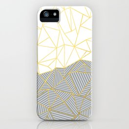 Ab Half and Half Grey iPhone Case