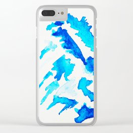 Blue Swan Clear iPhone Case