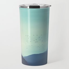 Sundancer - Alpine valley and mountains at sunrise Travel Mug