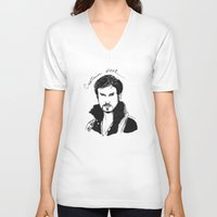 hook V-neck T-shirts featuring Captain Hook by *deim lacquer