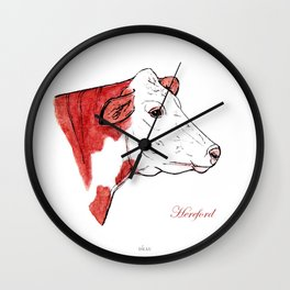 Hereford | English cow Wall Clock