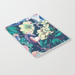 Unicorn and Floral Pattern Notebook