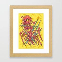 (Des)Integration Series - Yellowskeleton Framed Art Print
