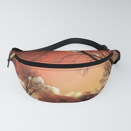 Sunset Through The Trees Fanny Pack