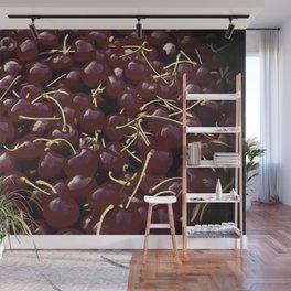 cherries pattern reacfn Wall Mural