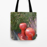 boardwalk empire Tote Bags featuring Boardwalk by Tawnya's Studio