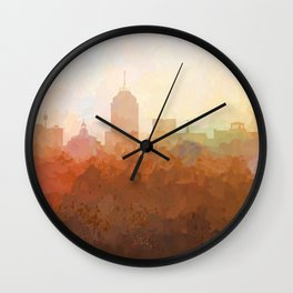 Fresno, California Skyline - In the Clouds Wall Clock