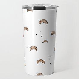 Bonjour good morning breakfast croissant love print Travel Mug