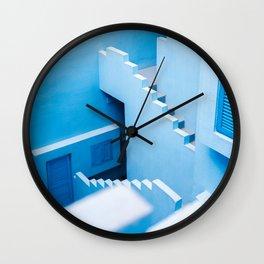 Blue maze of Muralla Roja Spain | Abstract photograph architecture art Art Print Wall Clock
