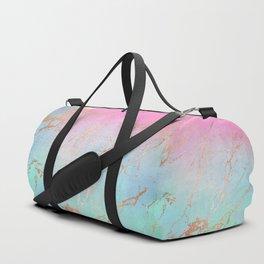 Rainbow Glamour Marble Texture Duffle Bag