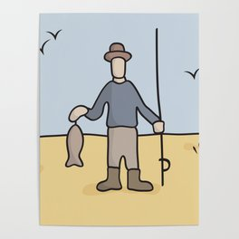 Beavid and Butthead Fisherman picture Poster