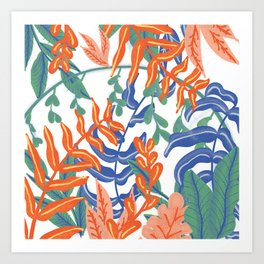 Abstract Tropical Pattern Art Print