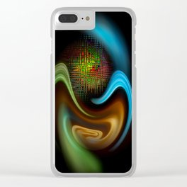 Abstract Perfektion 90 Clear iPhone Case