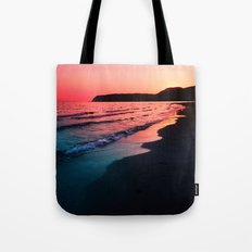 A bold Sunset Tote Bag