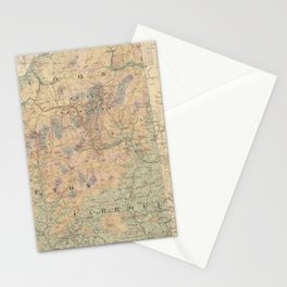 Vintage Map of The White Mountains (1881) Stationery Cards