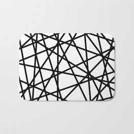 Lazer Dance Black on White Bath Mat