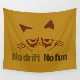 No drift No fun v3 HQvector Wall Tapestry
