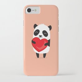 Panda love. Cute cartoon illustration iPhone Case
