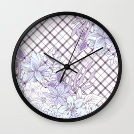 Spring Flowers (Lavender Love) Wall Clock