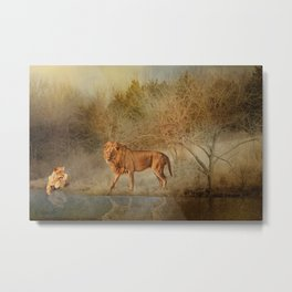 Lions At The River Metal Print