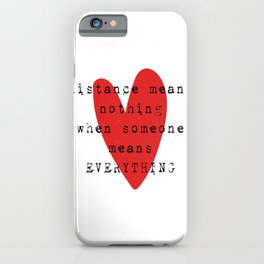 Long Distance Relationship LDR iPhone Case