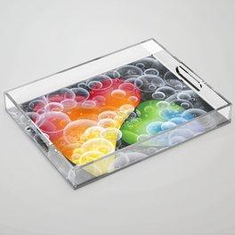 Bubble Hearts Acrylic Tray
