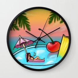 blue hawaii Wall Clock