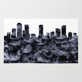 Denver Skyline Colorado Rug