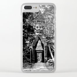 Deserted in the jungle Clear iPhone Case