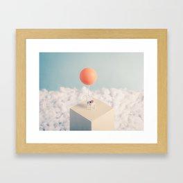 Chair with Balloon Framed Art Print