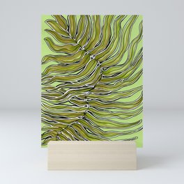 Green Leafy Zen Leaf Mini Art Print