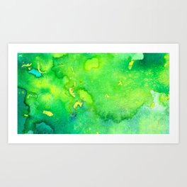 Green and Yellow Abstract Art Print