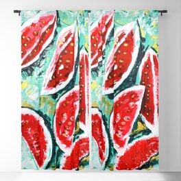 watermelon acrylic art Blackout Curtain