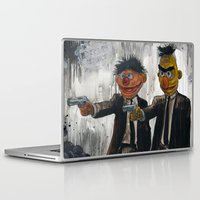 sesame street Laptop & iPad Skins featuring Pulp Street by Beery Method