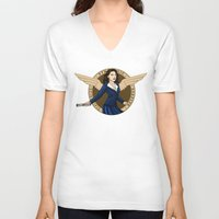 agent carter V-neck T-shirts featuring Agent Carter by Arania