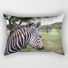 Profile of a Zebra  Rectangular Pillow