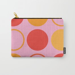 Retro Art Design Color Orange and Pink Carry-All Pouch
